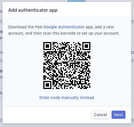 Enable Two-Step Authentication Using a Mobile App : Stripe